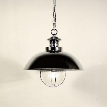 040cbfo_8991 lámpara de suspensión campana industrial cromado 33x33x125cm