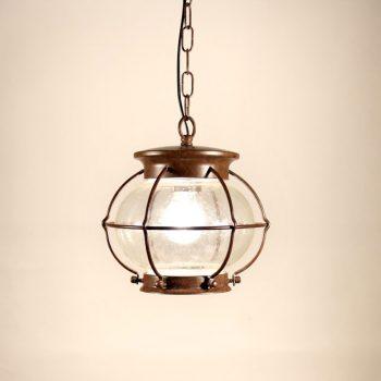 040cbfp_8991_2 lámpara suspensión farolillo óxido 27xh28cm