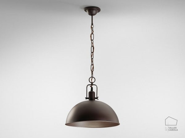 041c1473 Lámpara Suspensión Industrial Campana