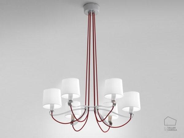 041c2489.6 Lámpara Suspensión 6 brazos