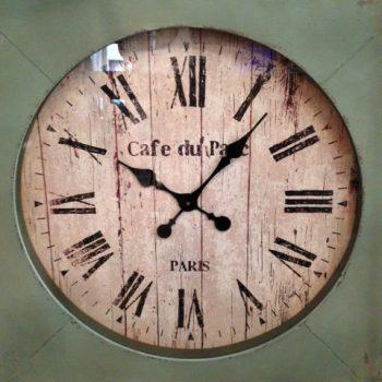 05221443 Reloj Cuadrado Madera