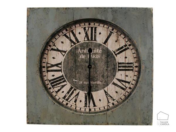 05411636 Reloj Anticuario Cuadrado Madera