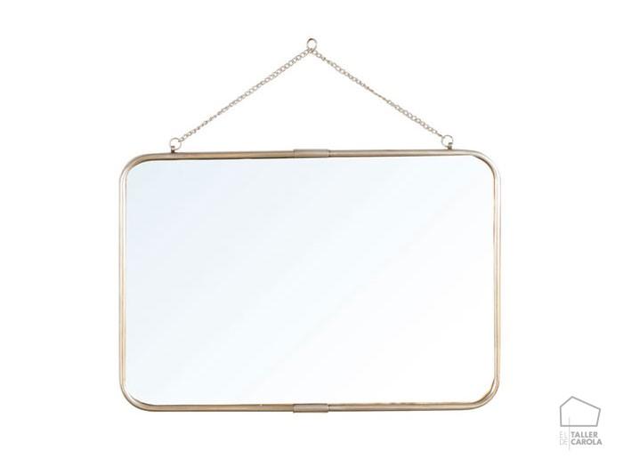 Espejo horizontal con cadena grande el taller de carola for Espejo horizontal