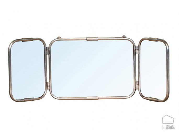 Espejo Tríptico Vintage Mediano