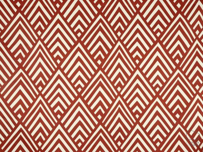 056_mik_03 Tela Geométrica Rojo