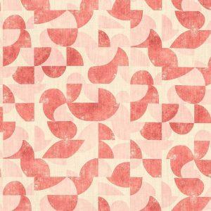 Tela AUD Geométrico Vintage Rosa