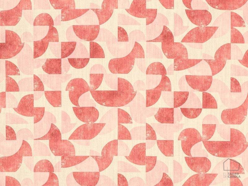 056aud_gol13 Tela Geometrica Vintage Rosa