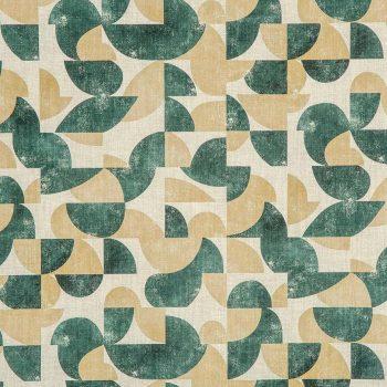 056aud_gol47 Tela Estampado Geometrico Vintage Verde