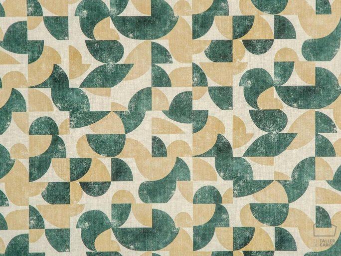 Tela Estampado Geométrico Vintage Verde 056aud_gol47