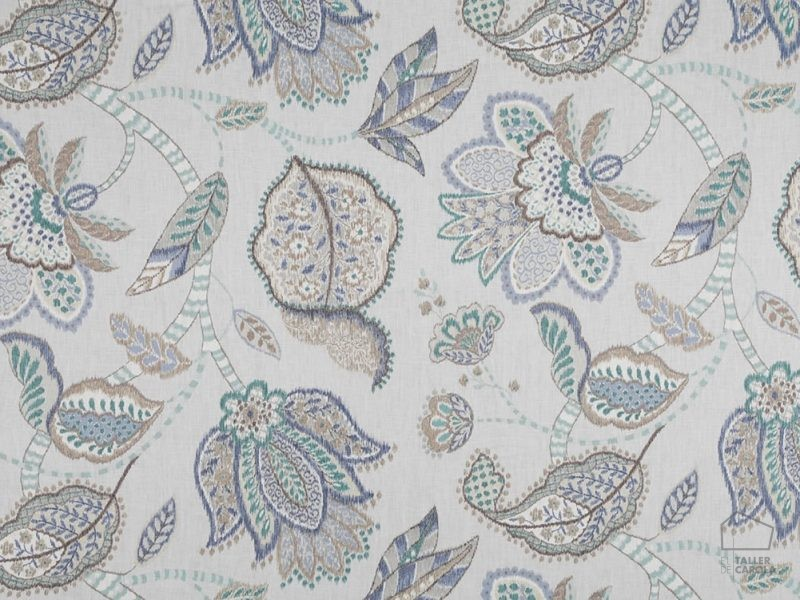 056bab03 Tela Estampado Flores Azules