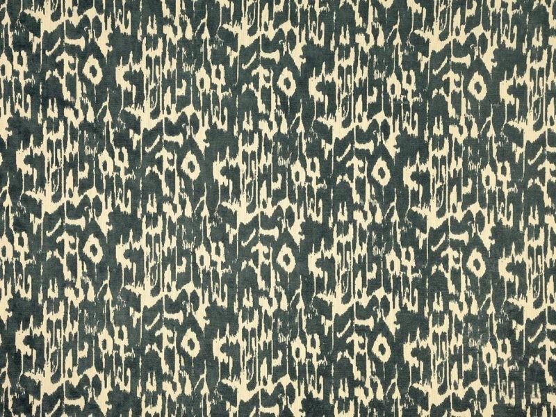056corrod3001 Tela Estampada Terciopelo Mallorquina Azul