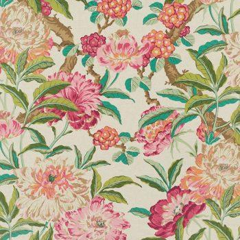 056gal08 Tela Flores Rosas