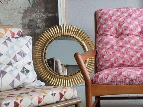 Telas geométricas para sofás, cojines