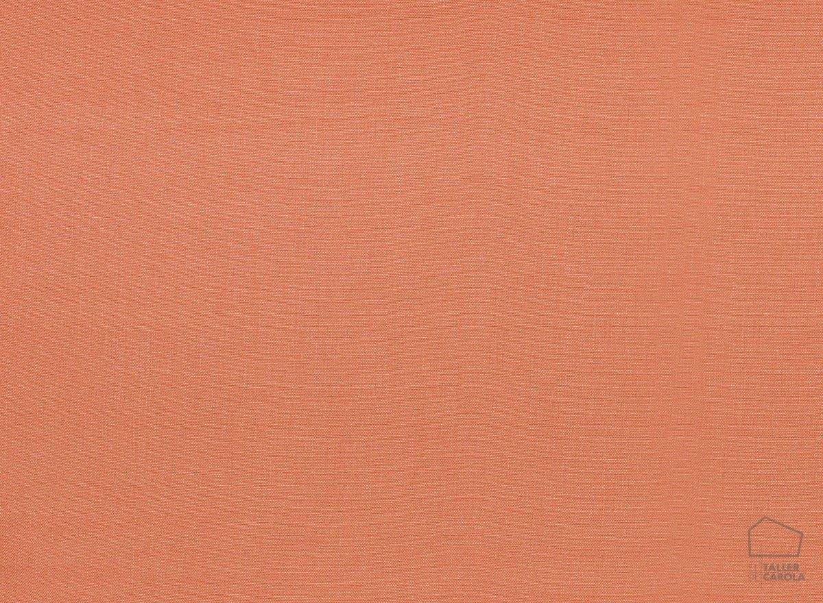 056got3982 Tela Lino Liso Desgastado Nórdico Coral