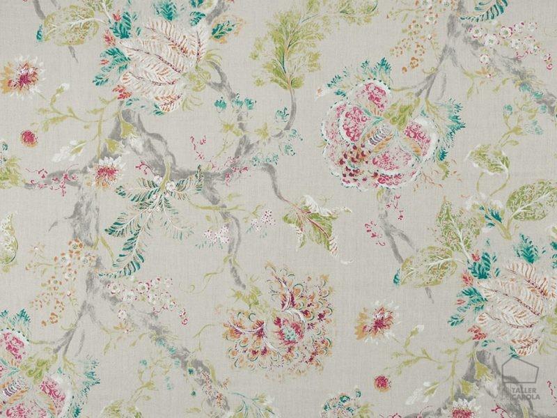 056her04 Telas Flores Botánica Piedra