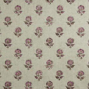 Tela KON Estampado Flores Indias Rosa