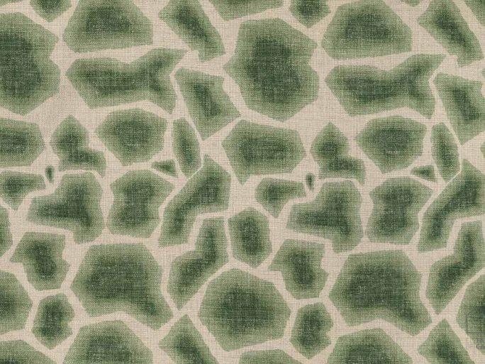 Tela Rocas Geométrico Verde