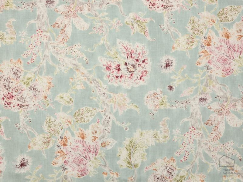 056mil02 Telas Flores Estampado Azul