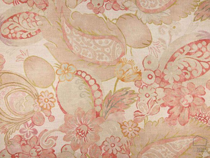 Tela PUE Flores Tropicales Lino Rosa