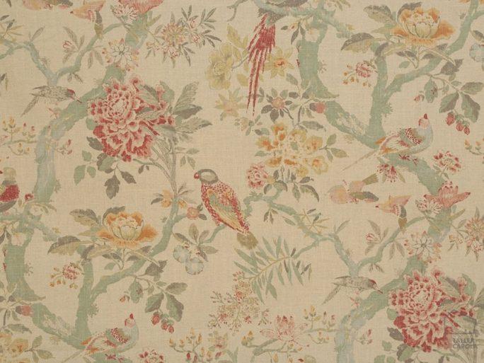 Tela Flores y Pájaros Vintage 056sag03