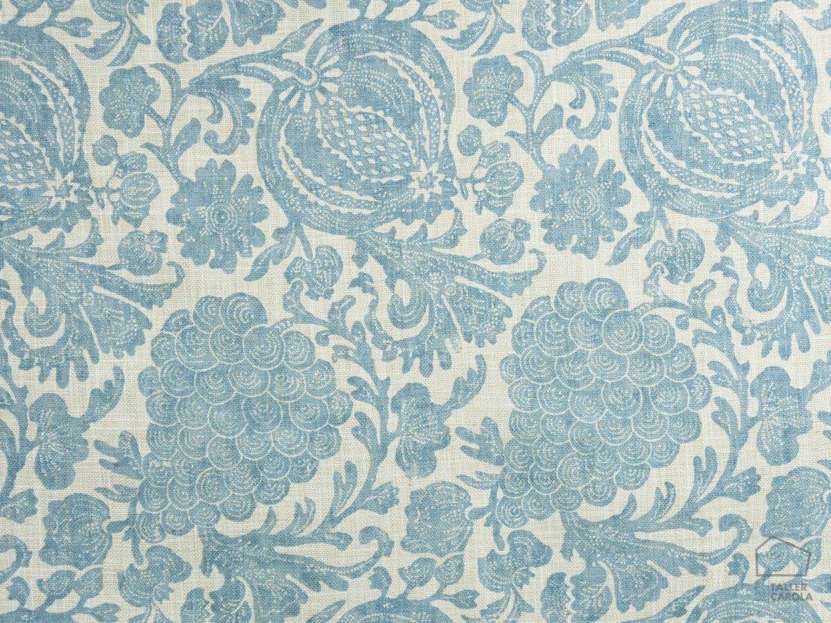 Tela VAR Estampado Flores Azul