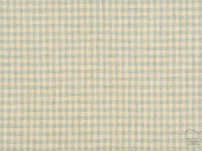 Tela Cuadros Vichy Azul Claro 056vil464