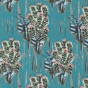 Tela Cactus Turquesa