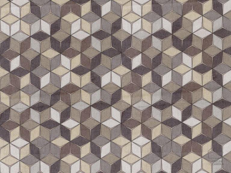 057re3883_01_20 Tela Geométrica Mosaico Marrón