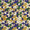 057res3883_03_24 Tela Geométrica Azul y Ocre