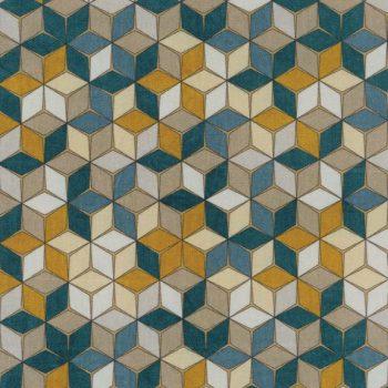 057res3883_04_26 Tela Geométrica Turquesa