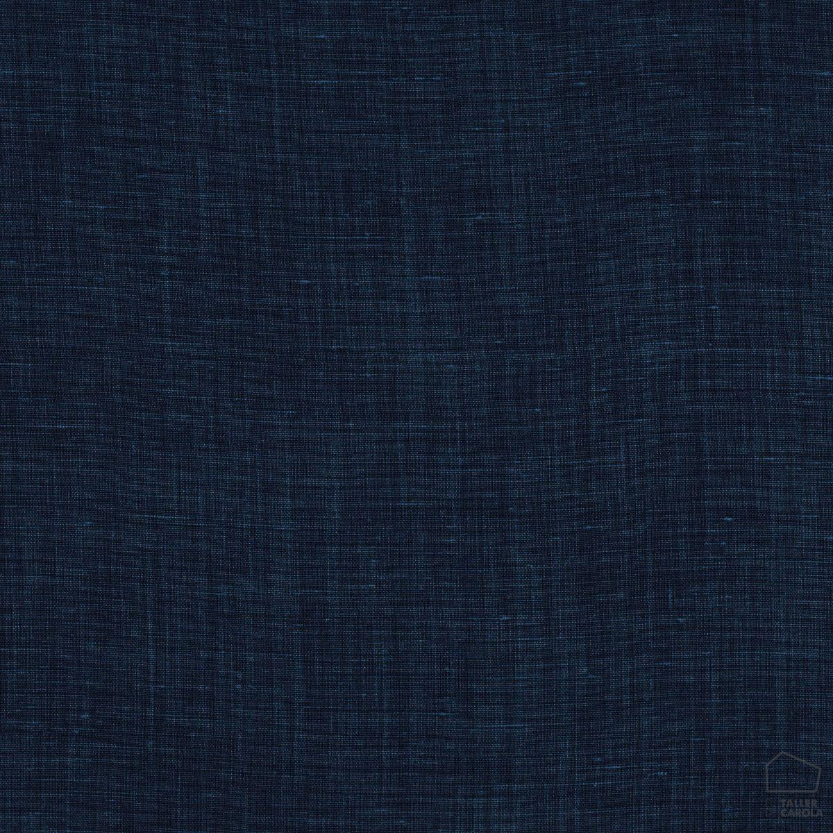 057sul38592442 Tela Lino Liso Desgastado Azul Marino
