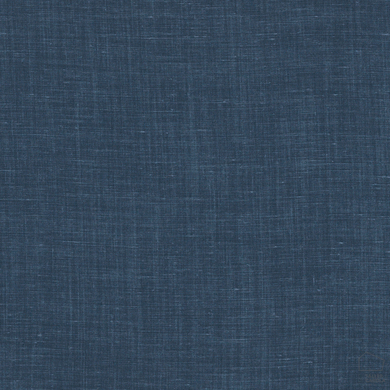 057sul38592691 Tela Lino Liso Lavado Azul