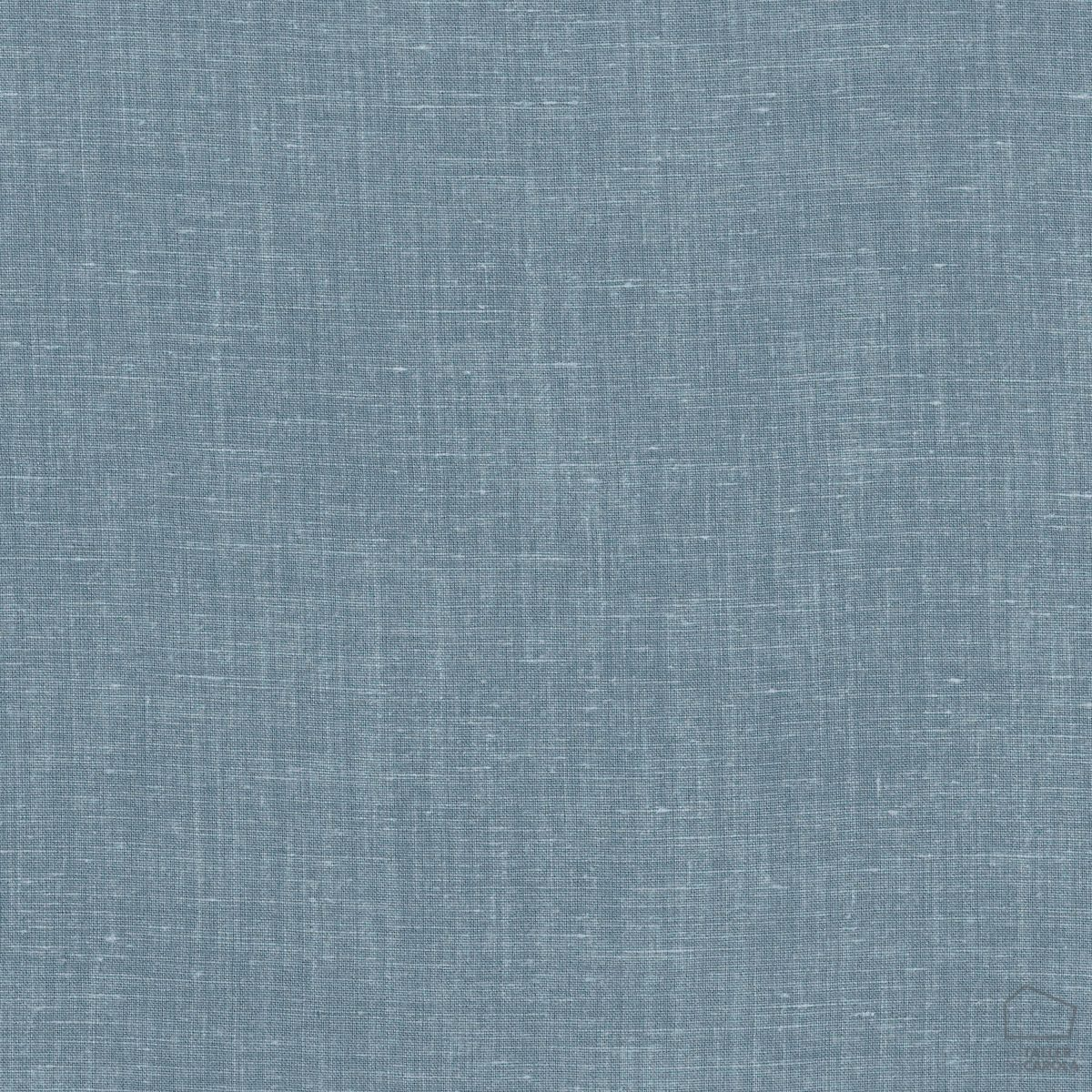 057sul38592700 Tela Lino Liso Empolvado Azul