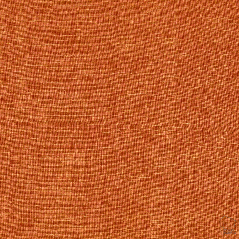 057sul38593358 Tela Lino Liso Desgastado Naranja