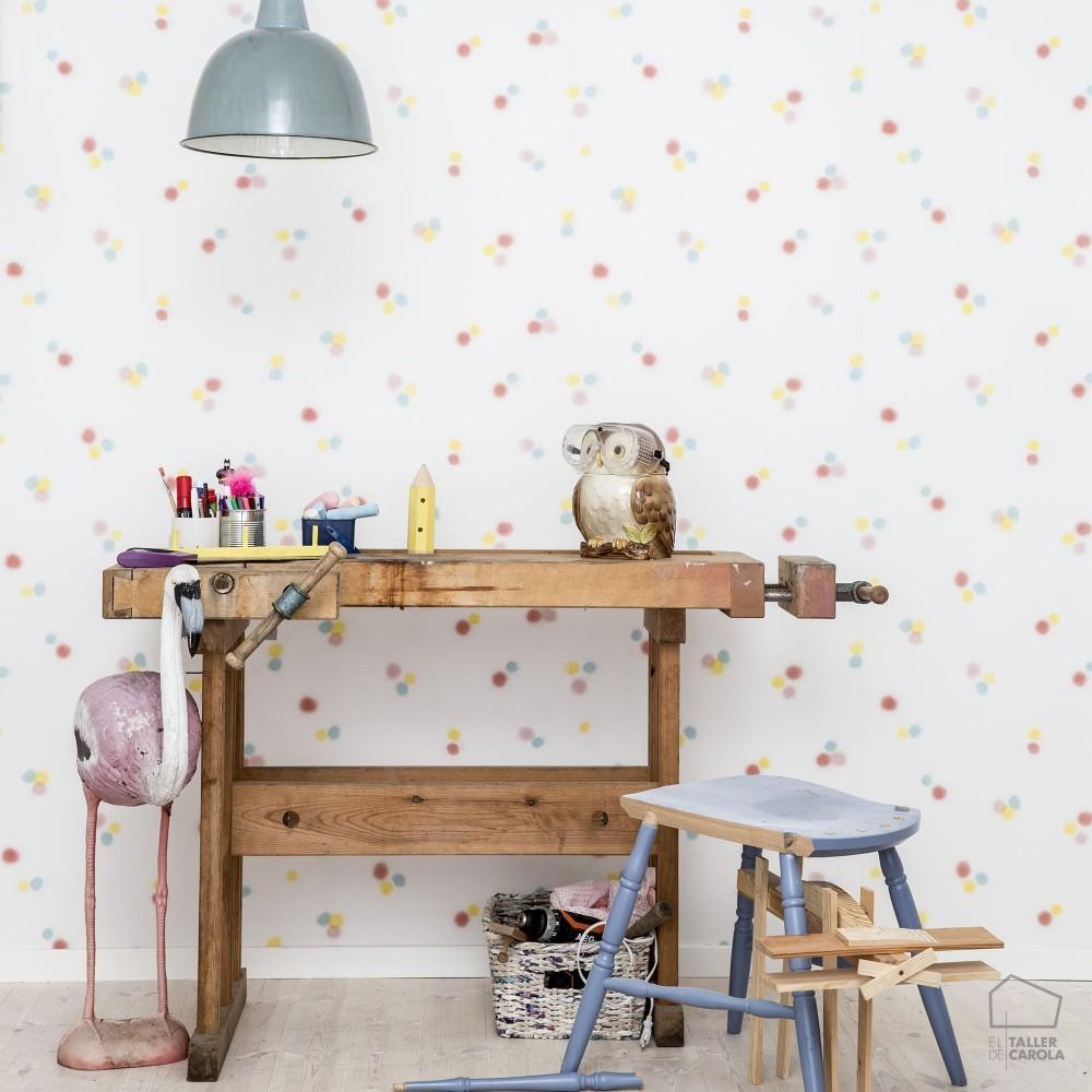 Papel pintado n rdico spray dormitorios infantiles for Papel pintado de lunares
