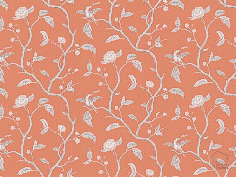 059401_34bru Papel Pintado Pájaros Coral