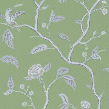 059401_38bru Papel Pintado Pájaros Verde