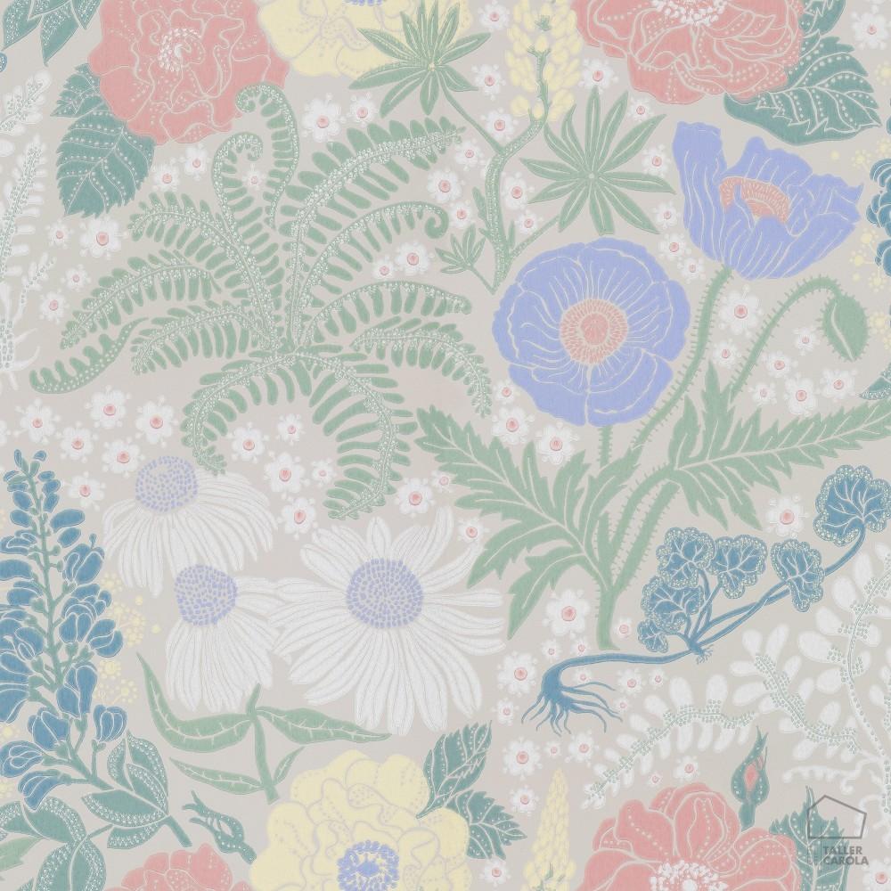 Papel pintado flores vintage la foto se est cargando por - Papel pintado vintage ...