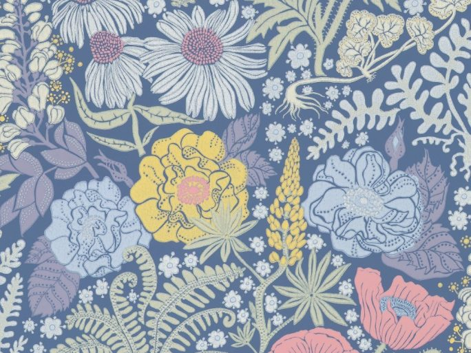 papel pintado lis botanica azul 059416-86-lis-fam