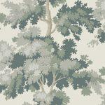 059444_58rap Papel pintado árboles Verde
