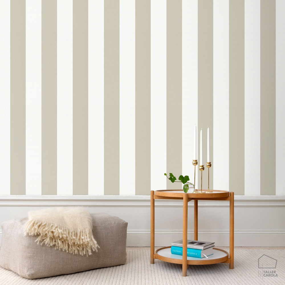 Papel pintado rayas topo el taller de carola for Papel pintado rayas verticales catalogo