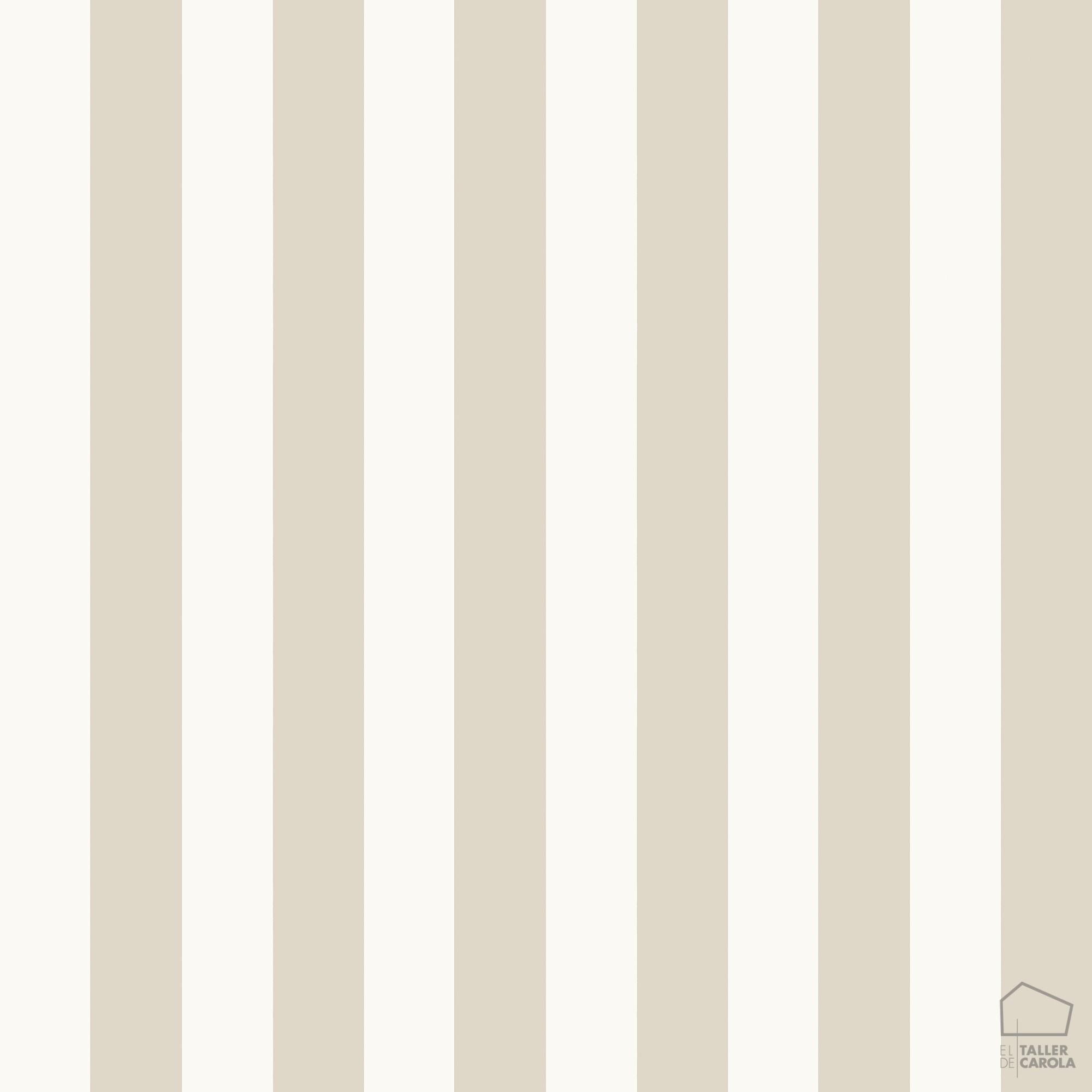 papel pintado rayas beige el taller de carola