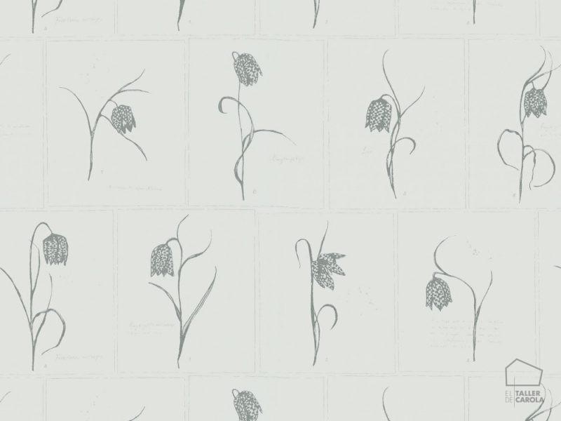 059552_31lin Papel Pintado Tulipanes Gris