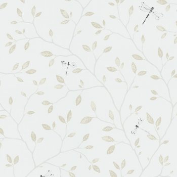 059558_19lin Papel Pintado Libélula Vegetal Crudo