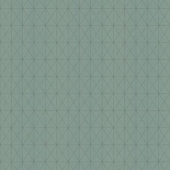059577_19gra Papel Pintado Geométrico Verde Agua