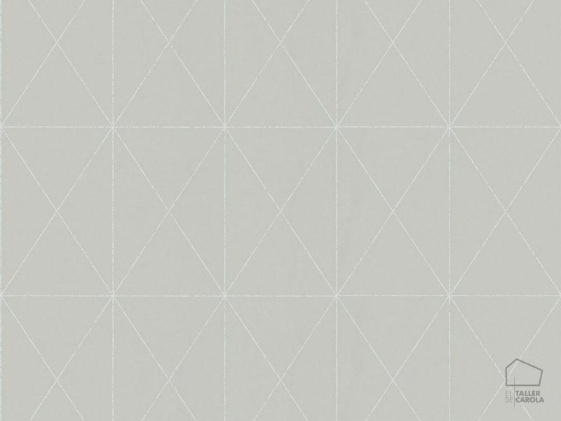 Papel pintado geom trico x piedra el taller de carola for Papel pintado piedra gris