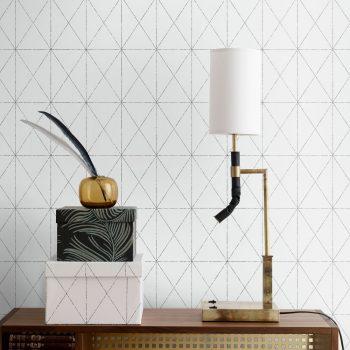 059577_91gra Papel Pintado Geometrico Blanco