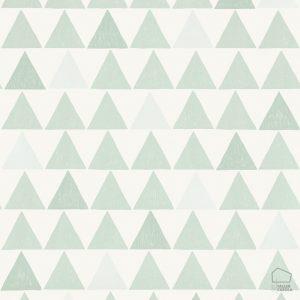 Papel Pintado TUR Triángulos verde