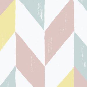 Papel Pintado Geométrico Pastel