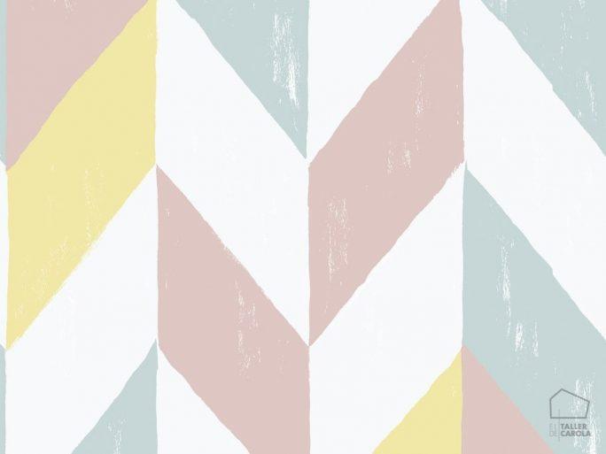 papel pintado geométrico pastel 059590-24-kir-fam